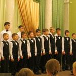 Хор мальчиков (г.Энгельс) на фестивальном концерте в Святодуховском центра Александро-Невской Лавры.