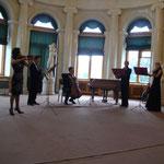 """Ансамбль """"Хит-ассамблея"""" на концерте фестиваля в Овальном зале Елагина дворца"""