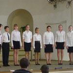 Вокальный ансамбль Волховской ДШИ на конкурсе 29 апреля 2012г.