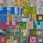 Reibungsflächen (Hochdruck auf Leinwand, Ölfarben, 120 cm x 120 cm, Unikat)