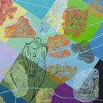 Verjüngung (Hochdruck auf Leinwand, Ölfarben, 120 cm x 120 cm, Unikat)