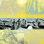 Klimawandel (Hochdruck auf Leinwand, Ölfarben, 120 cm x 120 cm, Unikat)