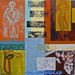 Jahreszeiten (Hochdruck auf Leinwand, Ölfarben, 120 cm x 120 cm, Unikat)