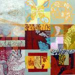 Balance finden (Hochdruck auf Leinwand, Ölfarben, 120 cm x 120 cm, Unikat)