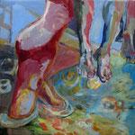 Einstieg (Acryl auf Leinwand, 60 cm x 60 cm, 2010)