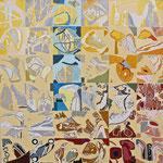 Irgendwo - Überall (Hochdruck auf Leinwand, Ölfarben, 120 cm x 120 cm, Unikat)