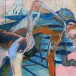 Zwei in einer Brust (Acryl auf Leinwand, 60 cm x 60 cm, 2010)