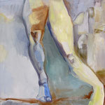 Stand- und Spielbein(Acryl auf Leinwand, 60 cm x 60 cm, 2010)