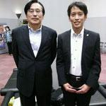 中央大学法科大学院教授森信茂樹先生とツーショットです。