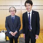 国立音楽大学元学長で名誉教授の海老澤敏先生とツーショットです。