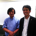元日本数学科理事長・中央大学理工学部数学科教授の宮岡洋一先生とツーショットです。
