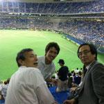 東京ドームで野球観戦です。