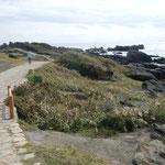 野島崎灯台から少し歩けば太平洋でした。                                       ・房総の南端巡り秋惜しむ(和良)