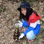 子供たちは竹林で筍を見つけると歓声を上げていました。  ・筍を見つけたる子の声弾む(和良)