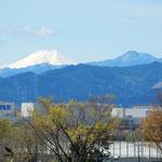 埼玉県にある関越道の高坂サービスエリアから富士が見えました。    ・はるかにも残雪の富士くっきりと(和良)