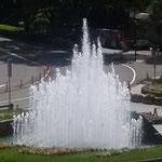 徳島市にある文化の森の噴水が上がると園内は静かになりました。 ・噴水の上がり園内鎮もれる(和良)