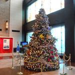 東京駅前の新丸ビルのクリスマスツリーです。                                       ・丸の内ここのビルにも大聖樹(和良)