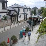神戸市北野の異人館です。外国人が観光に来ていました。                              ・木犀の香の下りてくる坂の道(和良)