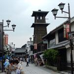 川越の蔵の町の「時の鐘」です。観光客で賑わっていました。      ・風薫る道幅広き蔵の町(和良)