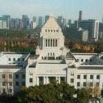 臨時国会が終わるとともに議事堂周辺の銀杏も散り果てていました。   ・閉会となりし議事堂銀杏散る(和良)
