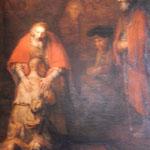 エルミタージュ美術館本館のレンブラントの「放蕩息子の帰還」です。  ・放蕩の息子の帰還帰り花(和良)