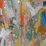 七夕飾りの笹にはたくさんの短冊が付けられていました。        ・七夕の短冊笹の撓むほど(和良)