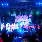 徳島市中央公園の阿波踊りサウンドフェスティバルです。 ・入る西日待ちて始まるフェスティバル(和良)