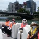 俳句の会で徳島市のひょうたん島クルーズを吟行しました。 ・黒鯛の泳ぐ町川船遊(和良)