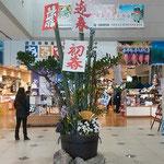 徳島市の阿波おどり会館にはお正月の飾りが早々と飾られていました。  ・正月へ心はすでに飛んでゐる(和良)