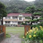高校のクラス会を阿南市伊島でしました。校門のカンナが綺麗でした。 ・カンナ咲く島の学校子らの声(和良)