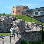 リトアニアのヴィリニウスのあるゲディミナス城です。         ・城跡は涼しき風の吹くばかり(和良)