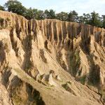 阿波の土柱には120万年をかけて作られた不思議な景観が見られました。  ・くっきりと阿波の土柱に冬日濃く(和良)