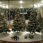 高輪のホテルにもクリスマスツリーが飾られていました。                                 ・雪の夜のおとぎの世界電飾で(和良)