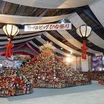 勝浦町のビッグひな祭りです。3万体の雛人形が飾られていました。         ・飾られて雛に命の蘇る(和良)