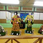 菊人形の井伊直虎は豪華な五色の菊の衣を着ていました。        ・直虎の菊の衣の匂ひ立つ(和良)
