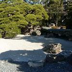旧徳島城表御殿の白砂に冬の日差がまぶしかったです。          ・冬晴れの翡翠ことに輝きて(和良)
