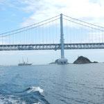 観潮船は淡路島からも出ていました。                  ・観潮船ありて鳴門の景となる(和良)