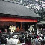 徳島市の犬飼農村舞台で恒例の人形浄瑠璃を見ました。 ・青空の下の浄瑠璃文化の日(和良)