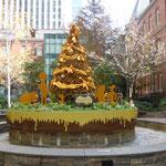 丸の内の三菱1号館美術館の中庭のクリスマスツリーです。                             ・美術館裏の庭にも聖樹かな