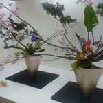 徳島市のデパートで「いけばな池坊展」を見てきました。        ・華やかに春来しを告ぐ華道展(和良)