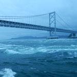 大鳴門橋の下を勢いよく春の潮が流れていきます。                   ・春の潮怒涛の如く流れゆく(和良)
