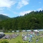 第30回のエキサイティングサマーインワジキが開かれました。 ・台風が来る前の日の空の青(和良)