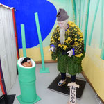 吉野川市鴨島町の菊人形ではかぐや姫伝説が再現されていました。  ・重ね来し歴史の重み菊人形(和良)
