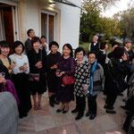 レイリア市を親善訪問した一行はリスボンの日本大使公邸に招かれました。・招かるる大使公邸秋麗(和良)