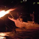 岐阜県で長良川の鵜飼を見てきました。                                           ・漆黒に鵜の影しかと鵜舟行く(和良)