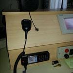Funk-Fixstation im Kommandozimmer