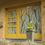 Haustüranlage mit sandgestrahlten Glaselementen, Privatkunde, Bielefeld