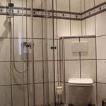 Glas-Duschkabine, Hotel Vier Spitzen, Lauenförde