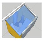 3-D-Modell der Sauna in der Planung und zur Veranschaulichung beim Kunden