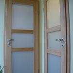 Buchen-Massivholztür mit mattierter Glasfüllung, Privatkunde